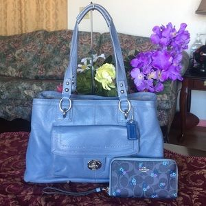 Coach penelope leather Handbag and wallet